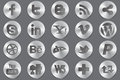 Social media oval icons Stock Image