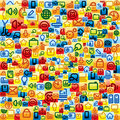 Social Media Pattern Stock Photos