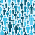 Social media people pattern Royalty Free Stock Image