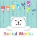 Social Media Polar Bear Royalty Free Stock Photo