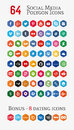Social media polygon Icons (Set 1)