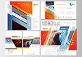 Social media posts set. Business templates. Cover template, easy editable, flat layouts in popular formats. Abstract