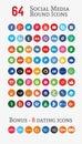 Social media round Icons (Set 1)