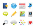 Social media set web and internet icons Royalty Free Stock Photos