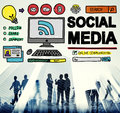 Social Media Social Networking Technology Connection Concept Royalty Free Stock Photo