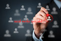 Social media specialist human resources officer headhunter personnel looking for a Stock Images