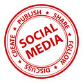 Social media stamp Royalty Free Stock Photo