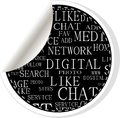 Social media stickers - networking concept words Stock Images