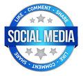 Social media symbol Royalty Free Stock Image