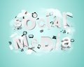 Social media tags internet concept Stock Photo
