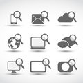 Social media technology icons Stock Photos