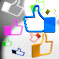 Social media thumb up icons concept Stock Image
