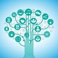 Social media tree Royalty Free Stock Photo