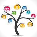 Social media tree people icon or concept Stock Photo