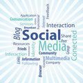 Social Media Type Royalty Free Stock Photos