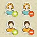 Social media user people icons set Royalty Free Stock Photos