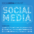 Social media vector icons set eps illustrator file concept Stock Image