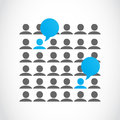Social media viral marketing abstract background Stock Photo