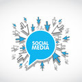 Social media web concept Stock Photos