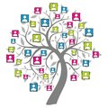 Social net tree Stock Images