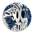 Social network abstract globe Stock Photo