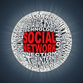 Social network abstract sphere Stock Images
