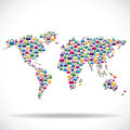 Social network around the world concept Royalty Free Stock Photo
