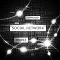 Social network background concept wordcloud illustration print concept word cloud graphic collage Stock Photos