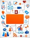Sociální síť média ikony