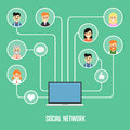 Social network banner with connected people Royalty Free Stock Photo