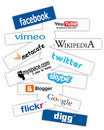 Social network banners Royalty Free Stock Photos