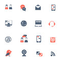 Social network black red icons set Royalty Free Stock Photo