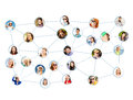 Social network business and networking concept with men and women Royalty Free Stock Images