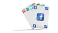 Social network cards Royalty Free Stock Images