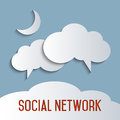 Social network concept for cloud computing and media Royalty Free Stock Images