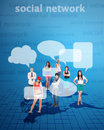 Social network concept with young people Stock Photography