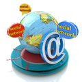 Social network in the design of the information related to the communication and message Royalty Free Stock Photo