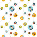 Social network flat seamless pattern Royalty Free Stock Photo