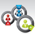 Social network icon design set Royalty Free Stock Photo