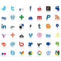 Social network icons colored vector with transparency Stock Photo