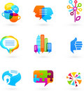 Social network icons and graphic elements Royalty Free Stock Photos
