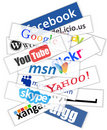 Social network logos Stock Photo