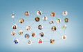 Social network networking and communication concept Stock Images