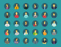 Social network relationship person avatars.