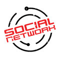 Social Network rubber stamp