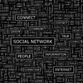 Social network seamless pattern word cloud illustration Stock Photo