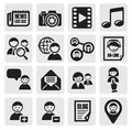 Social network set Stock Images