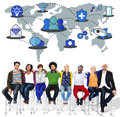 Social Network Sharing Global Communications Connection Concept Royalty Free Stock Photo