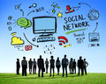 Social Network Social Media Business People Aspiration Concept Royalty Free Stock Photo