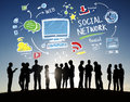 Social Network Social Media Business People Outdoors Concept